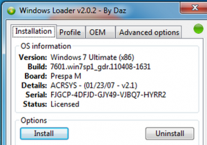 Windows 7 Activator Loader v2.2.2 By Daz 2020 + Key (32/64 bit)